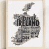 Personalised Republic Of Ireland Word Art Map Travel