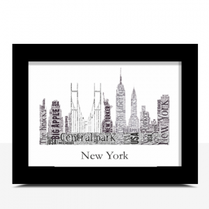 Travel Personalised New York Skyline Word Art