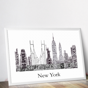 Personalised New York Skyline Word Art