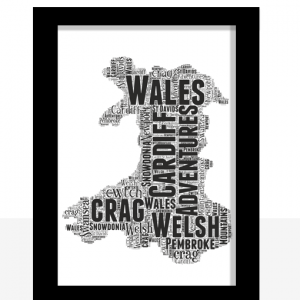 Travel Personalised Wales Word Art Map