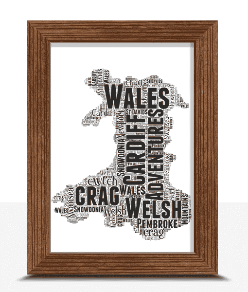 Personalised Wales Word Art Map