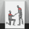 Gay Male Personalised Word Art Engagement Gift