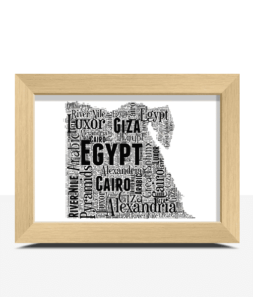Travel Personalised Egypt Word Art Map