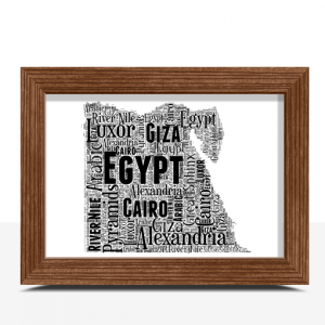 Personalised Egypt Word Art Map