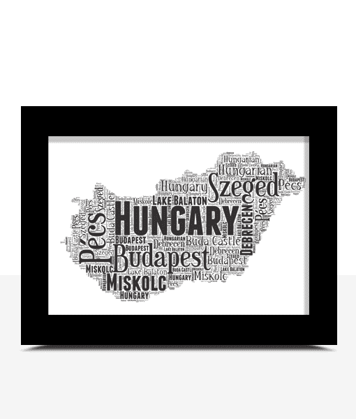 Personalised Hungary Word Art Map