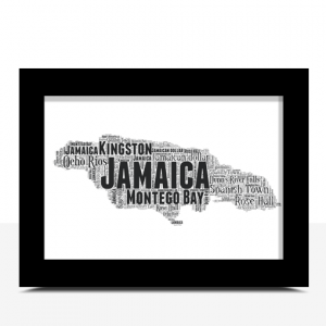 Personalised Jamaica Word Art Map