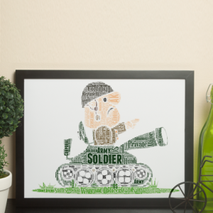 Army Tank Crewman Word Art Personalised Gift