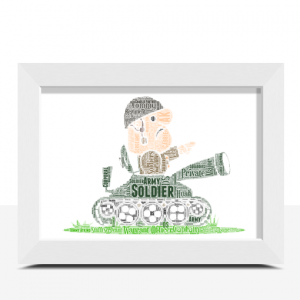 [tag] Army Tank Crewman Word Art Personalised Gift