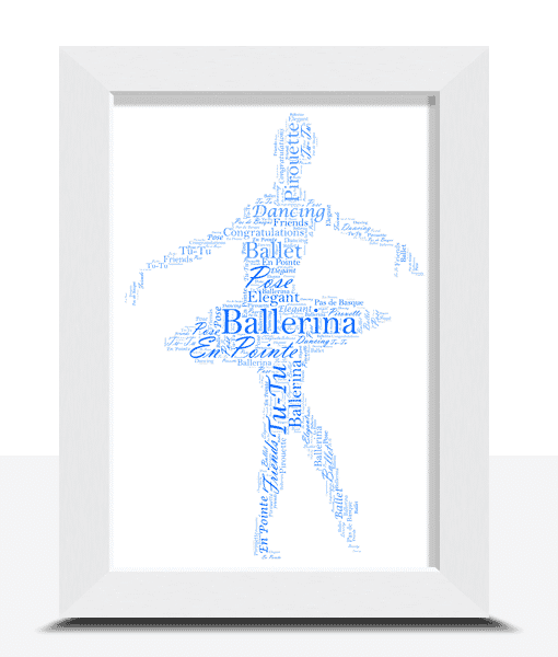 Dance Personalised Ballerina – Ballet Word Art Gift