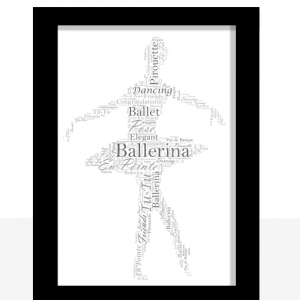 Personalised Ballerina – Ballet Word Art Gift