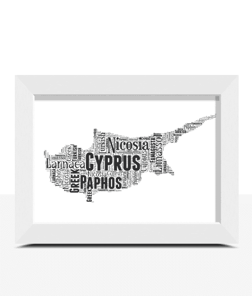 Travel Personalised Cyprus Word Art Map