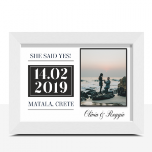 """""""She Said Yes!"""" Personalised Engagement Gift Engagement Gifts"""