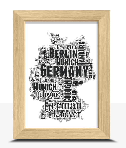Travel Personalised Germany Word Art Map