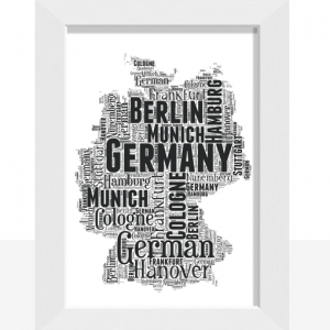 Personalised Germany Word Art Map