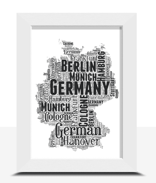 Personalised Germany Word Art Map
