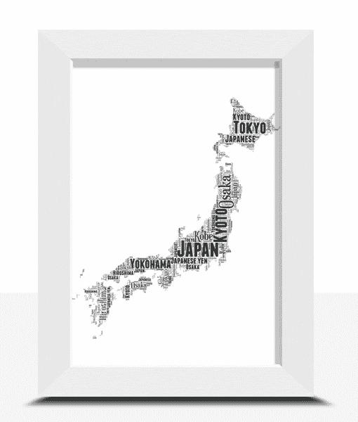 Personalised Japan Word Art Map