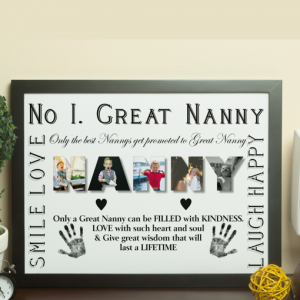No 1 Great NANNY Personalised Photo Gift Gifts For Grandparents