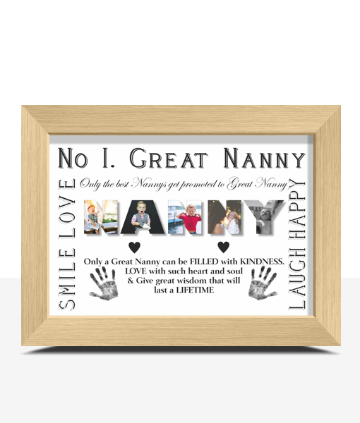 Personalised Great NANNY Photo Gift