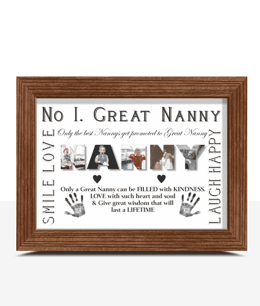 Gifts For Grandparents No 1 Great NANNY Personalised Photo Gift