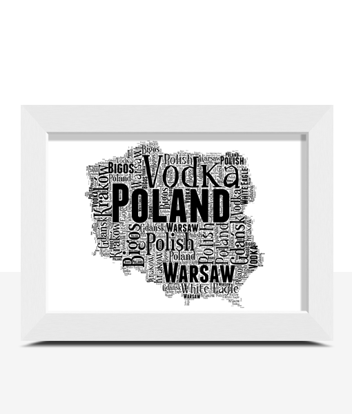 Travel Personalised Poland Word Art Map