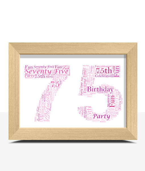 Anniversary Gifts 75th Birthday – Anniversary Word Art Gift