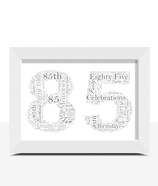 85th Birthday – Anniversary Word Art Gift
