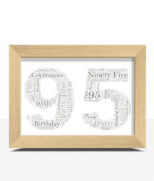 95th Birthday – Anniversary Word Art Gift