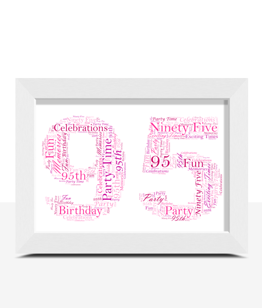 Anniversary Gifts 95th Birthday – Anniversary Word Art Gift