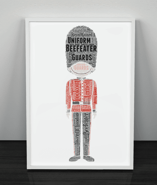 [tag] Beefeater Word Art Print
