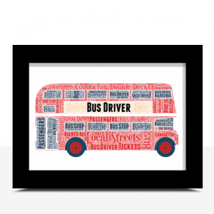 Double Decker Bus Word Art