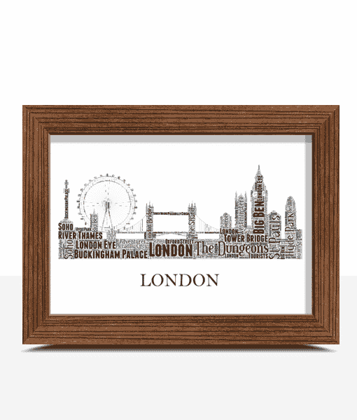 Personalised London Skyline Word Art