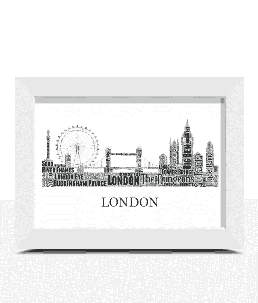 Travel Personalised London Skyline Word Art