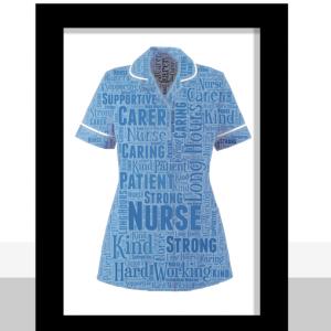 Nurse Uniform Word Art Gift Graduation Gifts