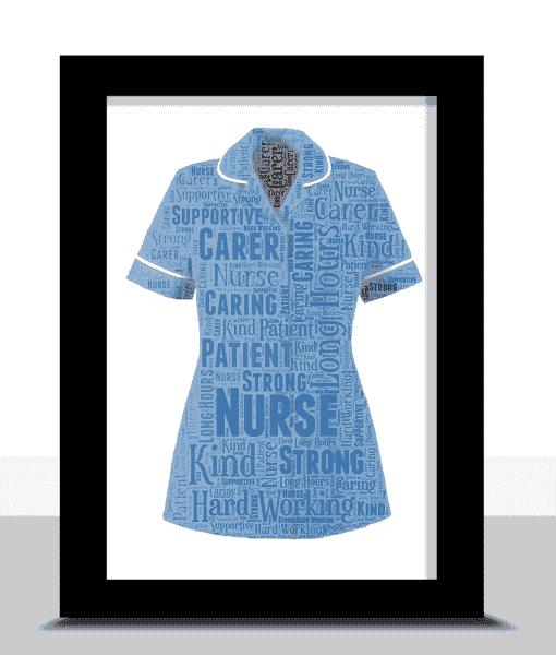 Graduation Gifts Nurse Uniform Word Art Print