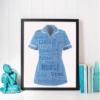 Graduation Gifts Nurse Uniform Word Art Print