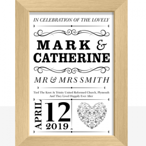 Personalised Wedding Couple Print Gift