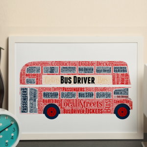 Gifts For Children Double Decker Bus Word Art