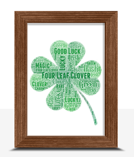 Personalised 4 Leaf Clover Good Luck Gift Good Luck Gifts