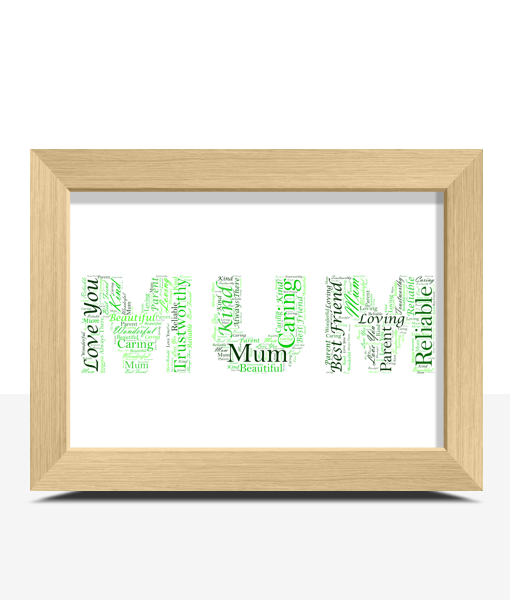 Personalised MUM Word Art Gift
