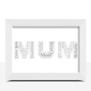 Gifts For Her Personalised MUM Word Art Gift
