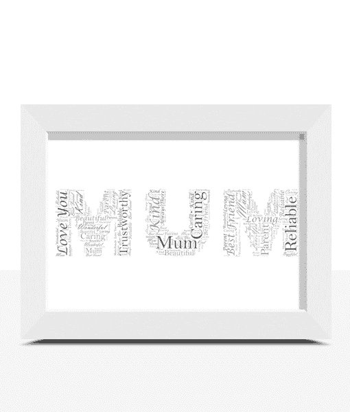 Personalised MUM Word Art Gift Gifts For Her