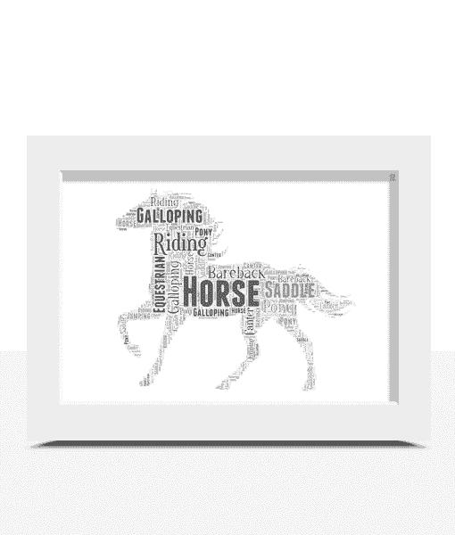Personalised Horse Word Art Print
