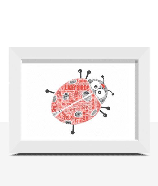 Personalised Ladybird Word Art Print Animal Prints