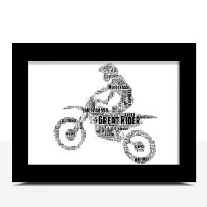 Motocross Bike Word Art