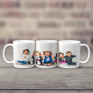 Family Panoramic Photo Mug