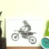 Motocross Bike Word Art