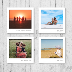 Anniversary Gifts X4 Retro Style Photo Canvas Display
