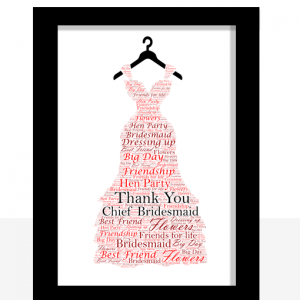 Bridesmaid Dress Word Art Gift