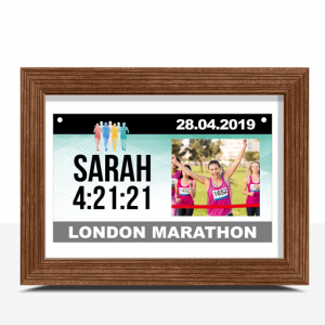 Gifts For Her Personalised Runner Gift – Race Bib Photo Print Design