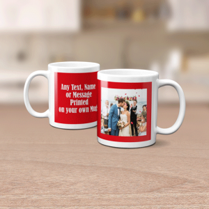 Anniversary Gifts Photo Mug With Personalised Message